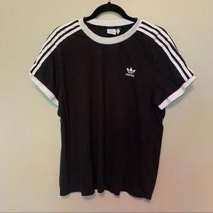 ADIDAS ORIGINALS Three Stripe T-shirt in Black